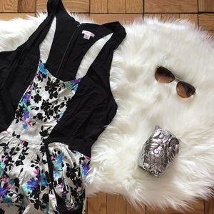 Xhilaration Floral Panel Halter Pocket Dress